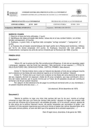 Examen De Inglés De La Comunidad Valenciana Pau De 2019 Descargar Exámenes Resueltos De Ebau Evau Paeu Y Selectividad