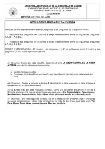 Exámenes De Ebau De Historia Del Arte Descargar Exámenes Resueltos De Ebau Evau Paeu Y Selectividad