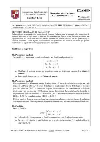 Exámenes De Ebau De Matemáticas Aplicadas A Las Ciencias Sociales Descargar Exámenes Resueltos De Ebau Evau Paeu Y Selectividad