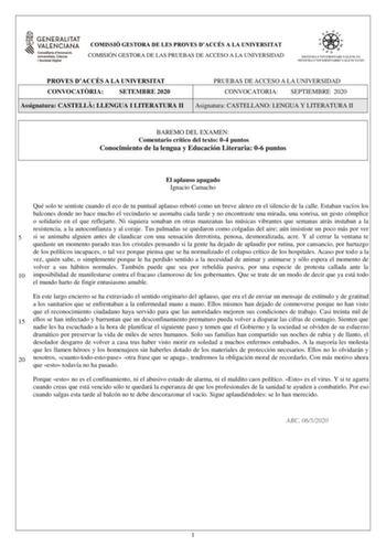 Exámenes De Pau De La Comunidad Valenciana Descargar Exámenes Resueltos De Ebau Evau Paeu Y Selectividad