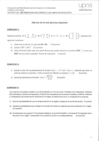 Exámenes De Evau De Matemáticas Aplicadas A Las Ciencias Sociales De Navarra Descargar Exámenes Resueltos De Ebau Evau Paeu Y Selectividad